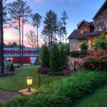 Twilight Exterior photo of Luxury Real Estate and Barn in Atlanta