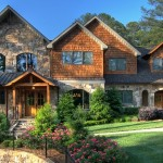 Daytime Exterior photo of Front Elevation of Luxury Home in Atlanta