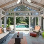 Daytime Exterior photo of Screened Patio Luxury Home in Atlanta