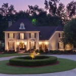 Elevated Twilight Exterior photo of Luxury Atlanta Home