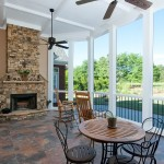 Screened Patio Exterior Photo of Luxury Home in Marietta GA