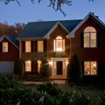Twilight Exterior Real Estate photo of Marietta Home