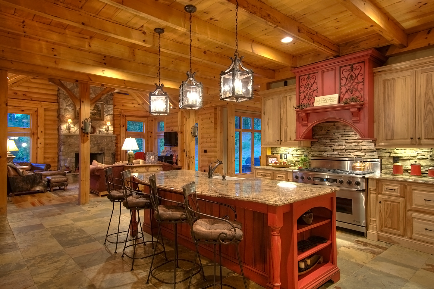 Rustic Cabin Kitchen Lighting