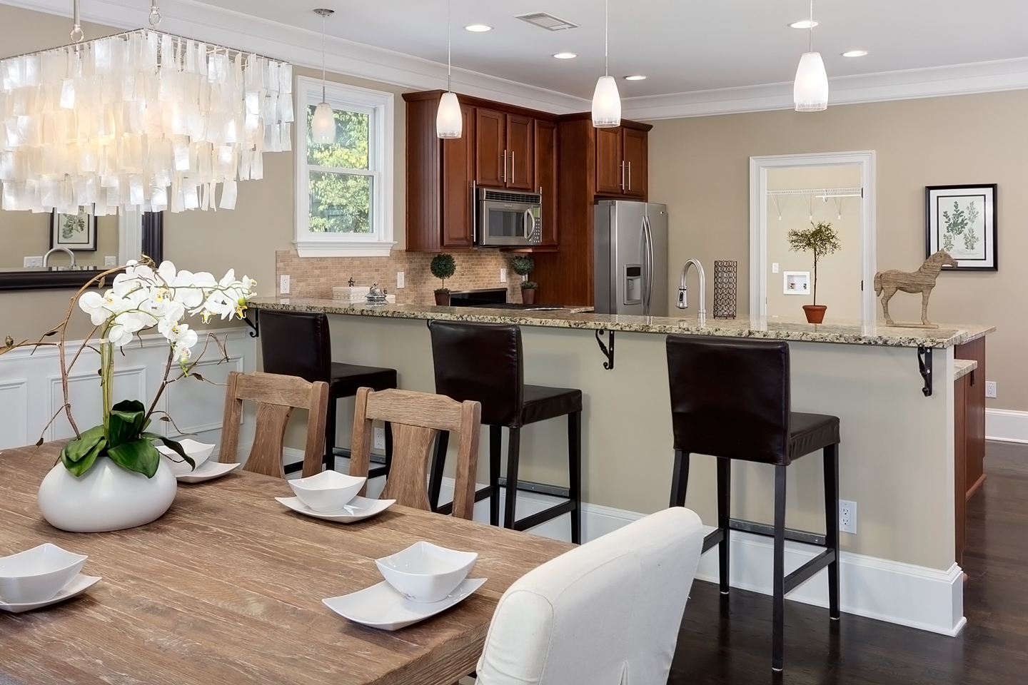 Kitchen And Dining Room Interior Photo Of Atlanta Home For Sale