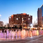 Atlanta Centennial Park Fountains at Twilight CNN