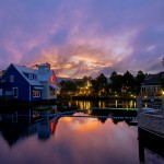 Baytowne Wharf Sunset Night photo