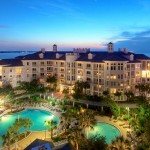 Twilight photo of Bahia Building at San Destin Resort FL