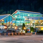 Night photo of Ripleys Aquarium of the Smokies in Gatlinburg TN