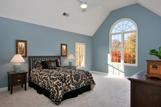 Master Bedroom Home Staging and Real Estate Photography Marietta Homes for Sale