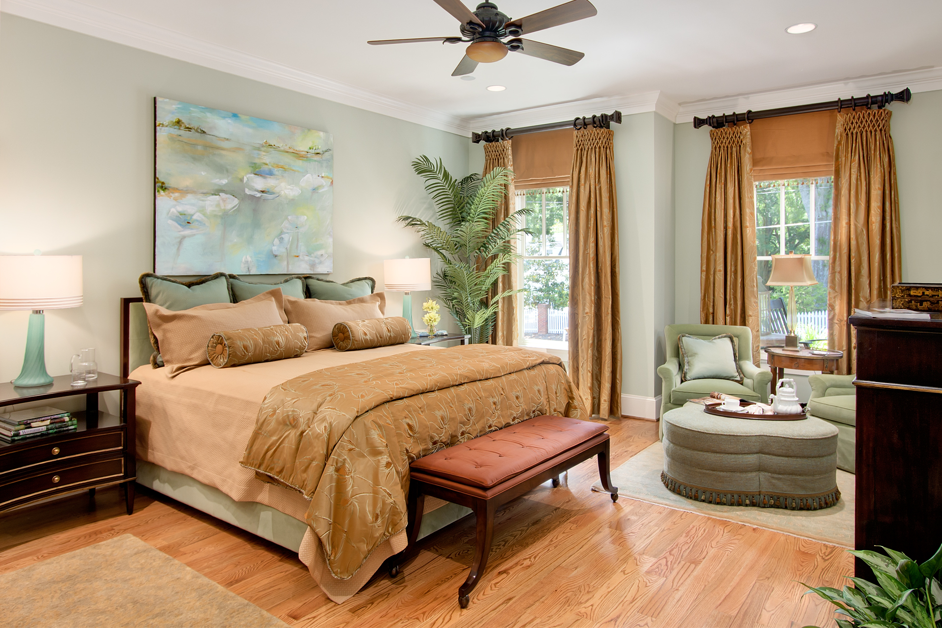 Show House Bedroom Atlanta Real Estate Photography Marietta Art Design Showhouse