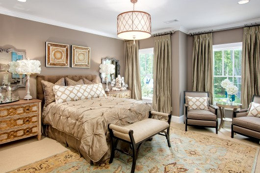 Marietta GA Art Design Showhouse Secondary Bedroom by Atlanta Real Estate Photographer Iran Watson