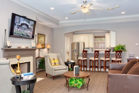 Real Estate photography of Clubhouse at Atlanta Apartment