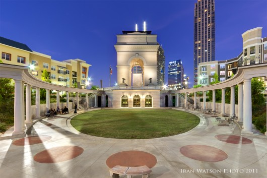 Atlanta Real Estate Photography of Millennium Gate at Night
