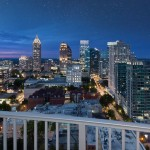 Twilight Atlanta Skyline from Condo for Sale at Spire